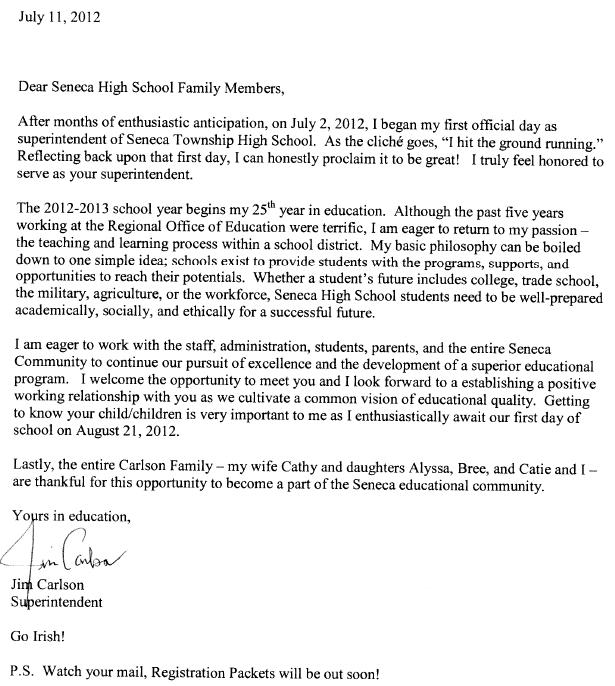 Carlson Introduction Letter