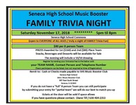 Music Booster Family Trivia Night Flier
